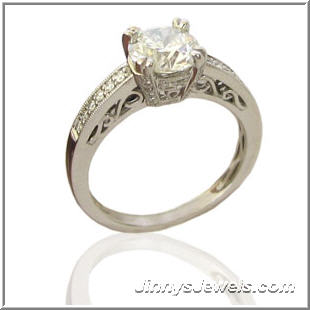 Jinnysjewels com 1 6 carat solitaire pave engagement ring sold